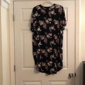 Rue 21 pink flower long tee/Dress
